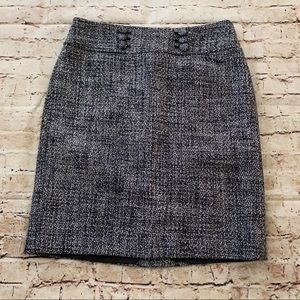 Ann Taylor tweed skirt blue and white